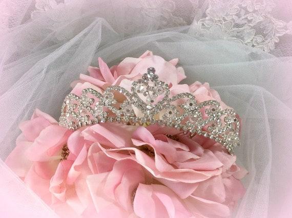 Rhinestone Crystals Tiara, Bridal, Tiara, Birthday