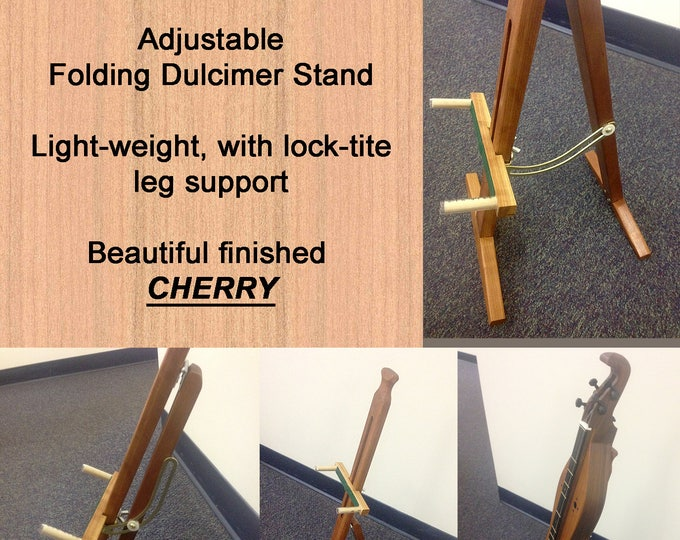 New Adjustable Mountain Dulcimer Folding Stand With Optional Clipboard and Wood choices