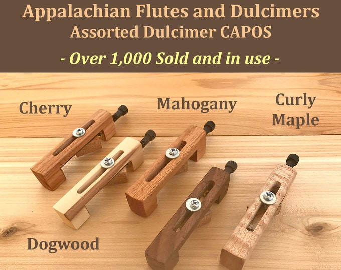 Hand-Made Mountain Dulcimer CAPO - With assorted Wood Types. Item# DCA001