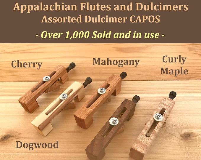 Hand-Made Mountain Dulcimer CAPO - Assorted Wood Types. Item# DCA001