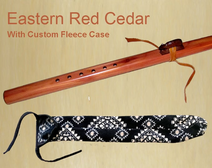 Appalachian Flute - Eastern Red Cedar, with Case. Item# RC019