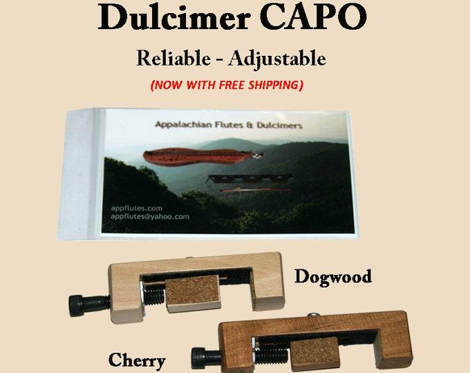 Hand-Made Mountain Dulcimer CAPO - Cherry or Dogwood. Item# CH027/DG028