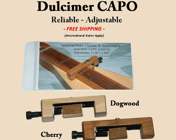 Hand-Made Mountain Dulcimer CAPO - Cherry or Dogwood. Item# CH027/DG028