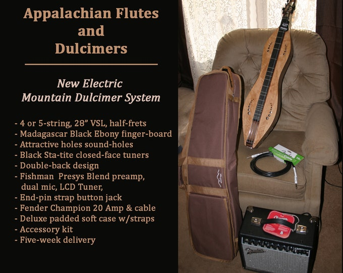 Electric Mountain Dulcimer System, double-back hour-glass