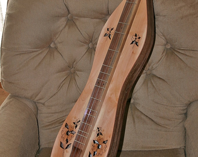 Dogwood HOURGLASS Mountain Dulcimer, 4-string, custom case, accessory kit, and optional Fishman Electric