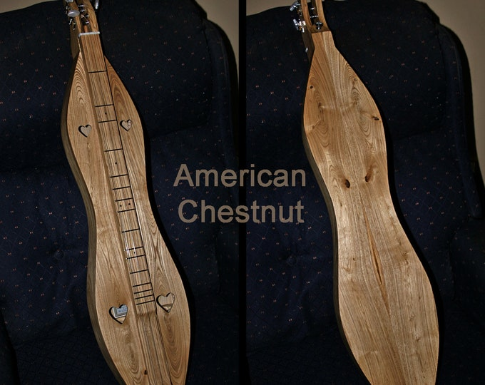 New American Chestnut 4-string Mountain Dulcimer, Standard or Baritone, with optional Electric.