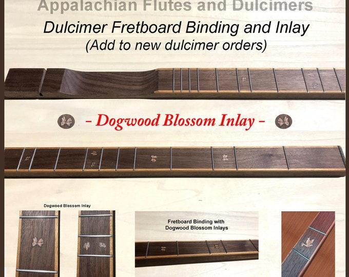 Beautiful, Custom Designed, Dulcimer Fretboard Binding and Inlay - Added to new Dulcimer Order