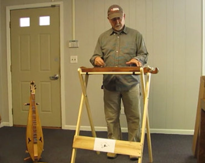 New Mountain Dulcimer Playing Stand (standing), with optional wireless electric. Item# CHPS025