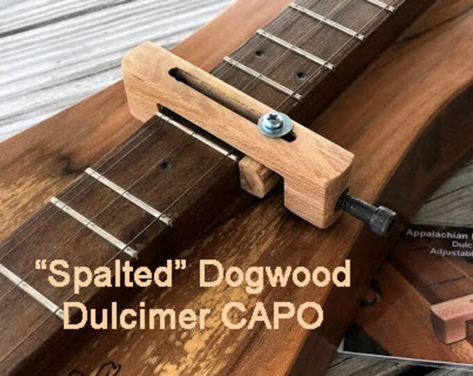 "New ""Spalted"" Dogwood Mountain Dulcimer CAPO - Item# DG028s"