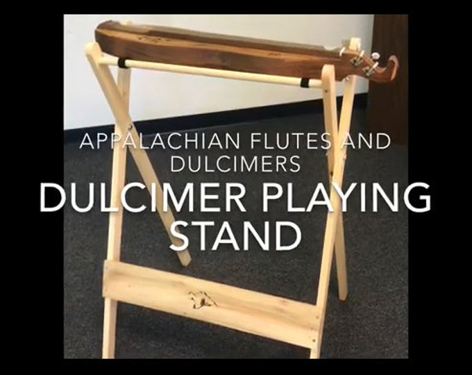 New Mountain Dulcimer Playing Stand (standing), with iPad, Tablet, or Notebook support. Item# CHPS025