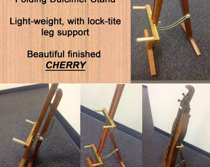 New Adjustable Mountain Dulcimer Folding Stand, With Optional Clipboard and Scheitholt or guitar Support. Item# CHS024