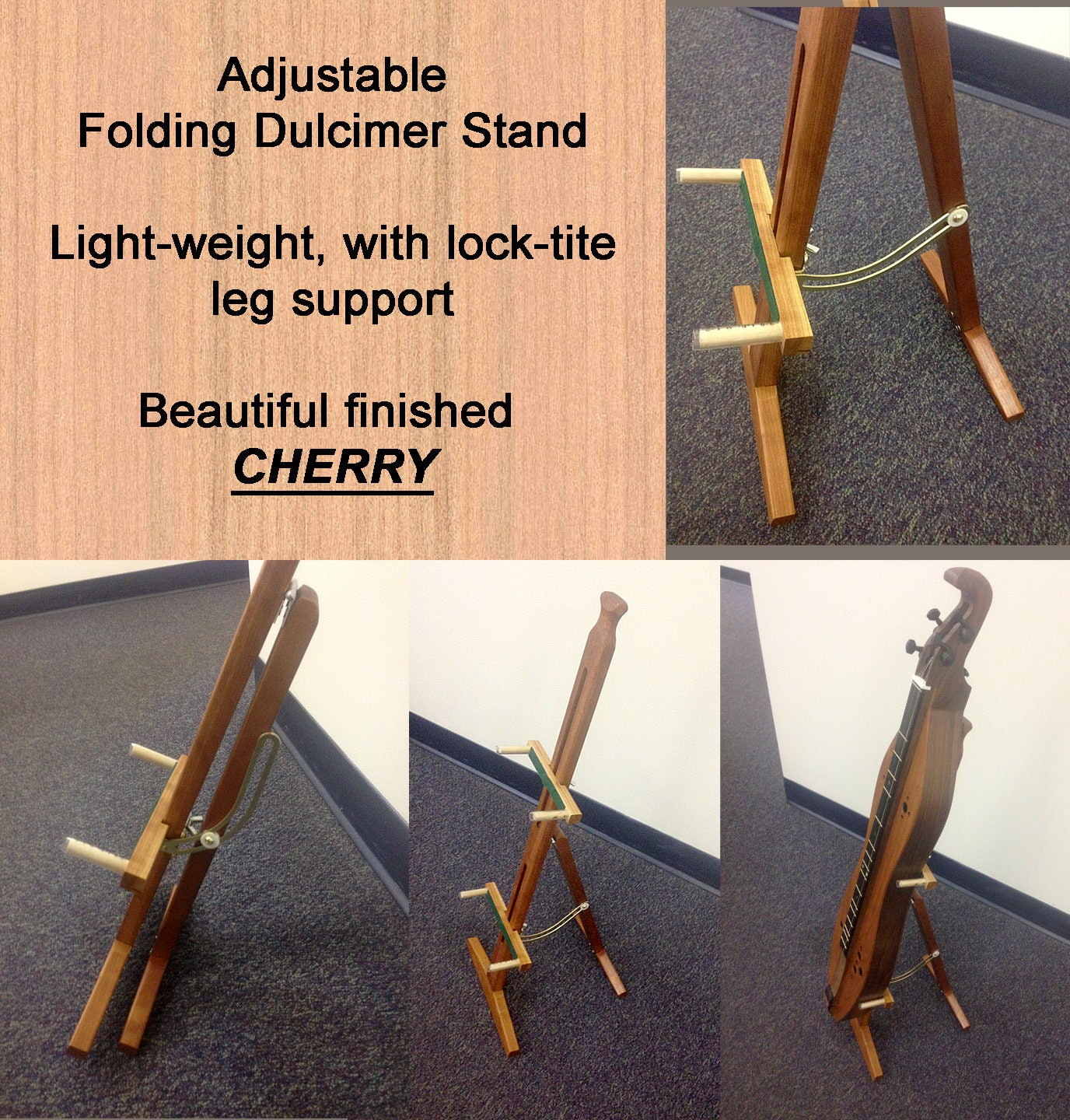 New Adjustable Mountain Dulcimer Folding Stand With