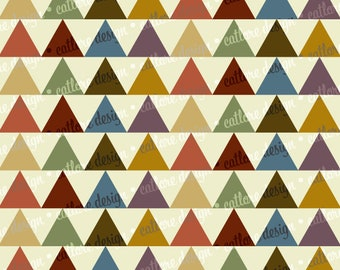 Printable Paper - Earthtones Triangles)