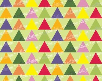 "Printable Paper - ""Blue Skies"" (Triangles)"