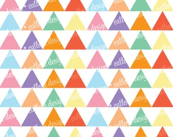 Printable Paper - Bright Gradients (Triangles)