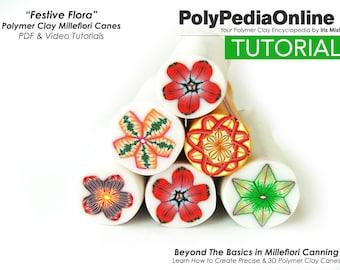 Polymer Clay Tutorial, Millefiori Canes Tutorial, Flower Millefiori Canes, Advanced Millefiori Canes Tutorial, Millefiori Canes Beads, Fimo