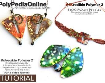 Polymer Clay Tutorial, PDF Tutorial, Polymer Clay Pattern, Polymer Clay Jewelry, DIY Handmade Bead, Jewelry Tutorial, Alcohol Ink, Video
