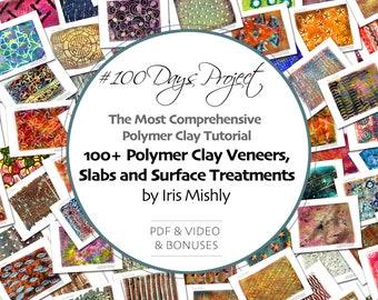 Polymer Clay Tutorial, Polymer Clay Veneers, Polymer Clay Beads, Polymer Clay Jewelry, Polymer Clay Slab Tutorial, Fimo Tutorial,Iris Mishly