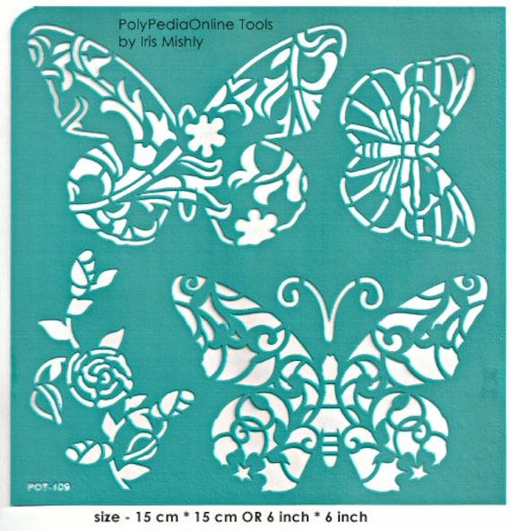 Plantilla Plantillas Plantillas De Mariposa Adhesivo Etsy