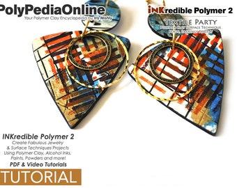 Polymer Clay Tutorial, Polymer Clay Jewelry, Polymer Clay Earrings, Polymer Clay Beads, Polymer Clay Surface Design, Polymer Clay Veneer,PDF