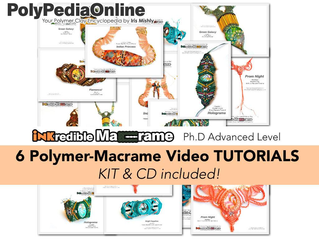 Polymer Clay Tutorial, Polymer Clay Jewelry, Macrame Pattern, DIY DIY DIY Macrame, Modern Macrame, DIY Jewelry, Ethnic, Tribal, Hippie, Jewelry,Fimo 547f5f