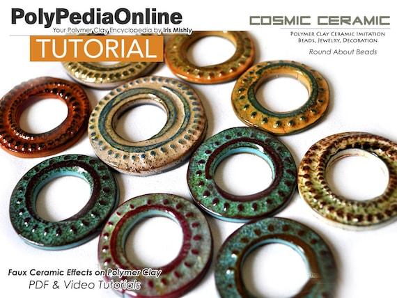 Necklace Tutorial Jewelry Tutorial Polymer Clay Tutorial 4 Polymer Clay Beads Video Tutorial PDF Tutorial Fimo Polymer Clay Jewelry
