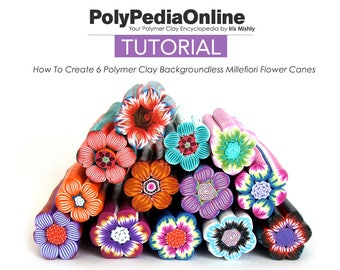 Polymer Clay Tutorial, Polymer Clay, Flowers Millefiori Cane, Polymer Clay Canes, Flowers Millefiori Tutorial, Fimo Flowers, Floral, Beads