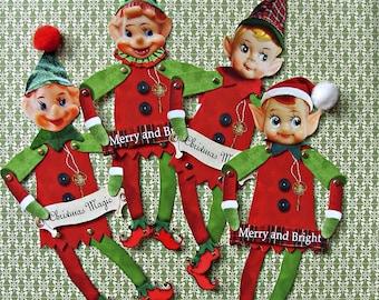 Instant download Santa's Elves paper dolls download