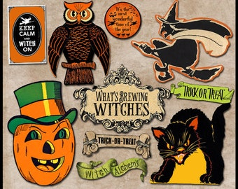 10 Halloween images for instant download