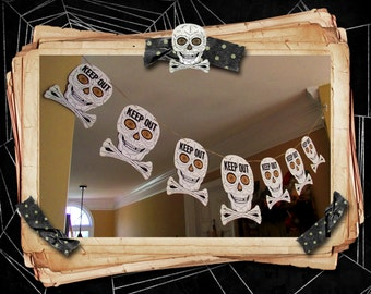 Keep out Halloween banner