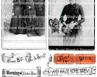 Instant download Witches Brew collage sheet