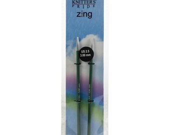 """Size 2.5 (3 mm) Knitters Pride Zings Special Interchangeable 3.5"""" Knitting Needle Tips"""
