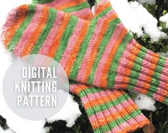All Hands on Deck - a top down, customizable mitten pattern - PDF Pattern