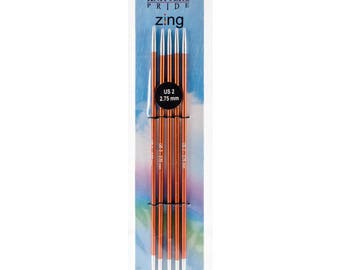 """Size 2 (2.75 mm) Knitters Pride Zings 6"""" Double Pointed Knitting Needles DPNs"""