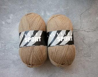 Trekking XXL Sport, Color 1426 Dark Tan/Light Brown, a solid colored fingering weight sock yarn