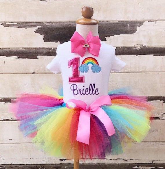 b03c3c5dd Pink Rainbow Tutu Outfit
