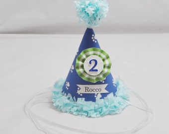 Boy Cat Birthday Hat Personalized, Pet Supplies Accessories, Gotcha Day Kitty Party Celebration, Animal Photo Prop
