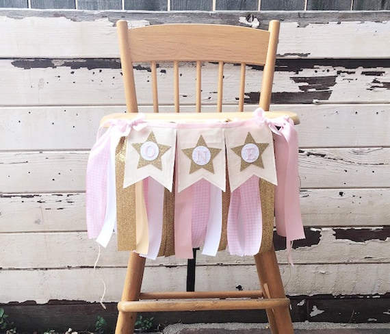 Baby's First Birthday Highchair Decorations  from i.etsystatic.com