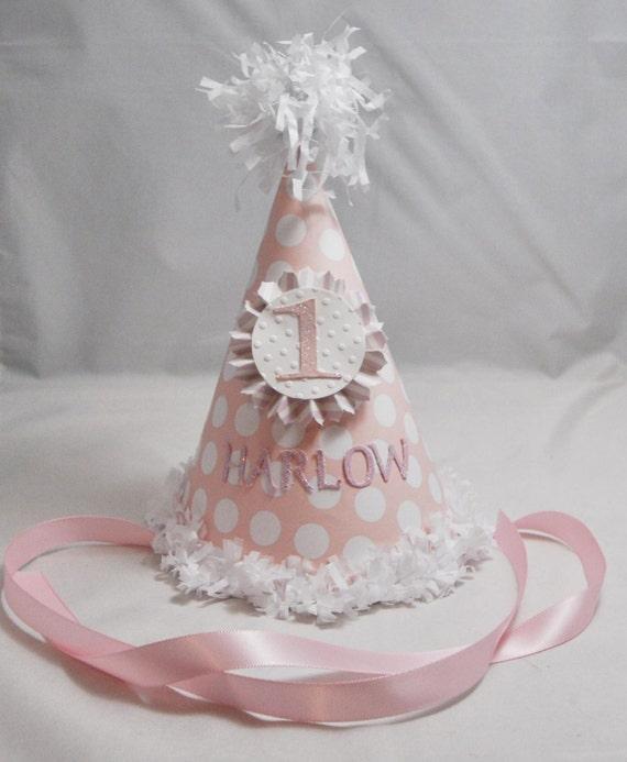 Shabby Chic Birthday Party Hat, Girl/'s Shabby Chic Primrose Birthday Party Hat