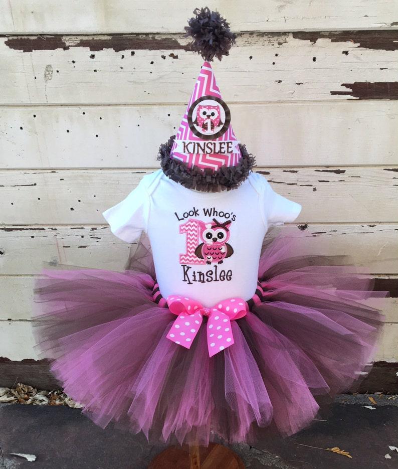 9ed7fb413 Look Whoo's Turning 1 Owl Tutu Outfit 1st Birthday Tutu   Etsy