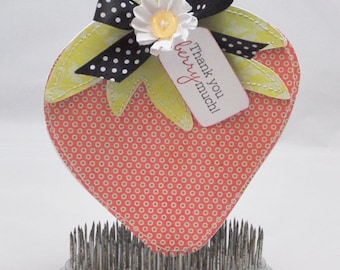Strawberry Shaped Thank you Card
