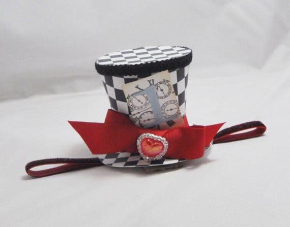 Queen of Hearts Inspired Hat Headband Fascinator 2157a61ccf2
