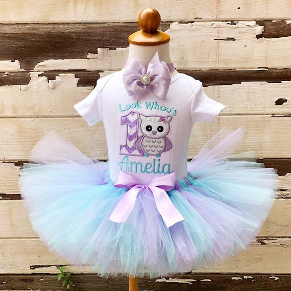 Owl Tutu Outfit, Look Whoo's Turning 1, 1st Birthday