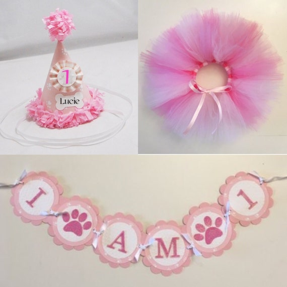 Girl Dog Birthday Banner Party Puppy Decorations