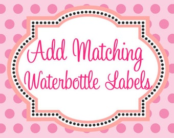 Add Water Bottle Labels to my Order