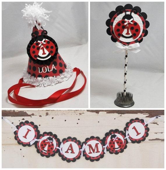 Ladybug Smash Cake Photo Props 3 Piece Set Girl 1st Birthday By