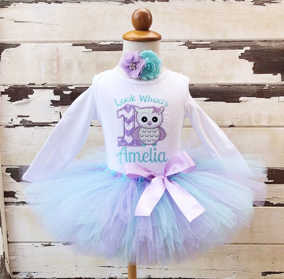 a206d741a Owl Tutu Outfit Look Whoo's Turning 1 1st Birthday   Etsy