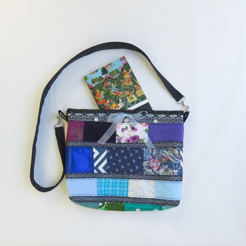 Shoulder Bag Boho Purse  Rainbow Patchwork  Upcycled Bag  image 0