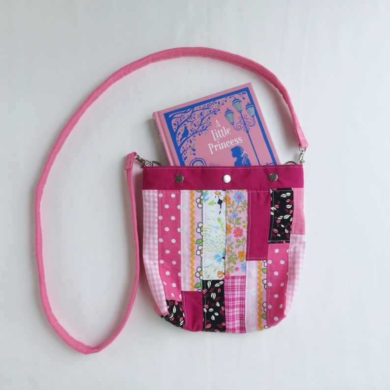 Quilted Purse for Girl  Crossbody Purse  Pink Patchwork  image 0