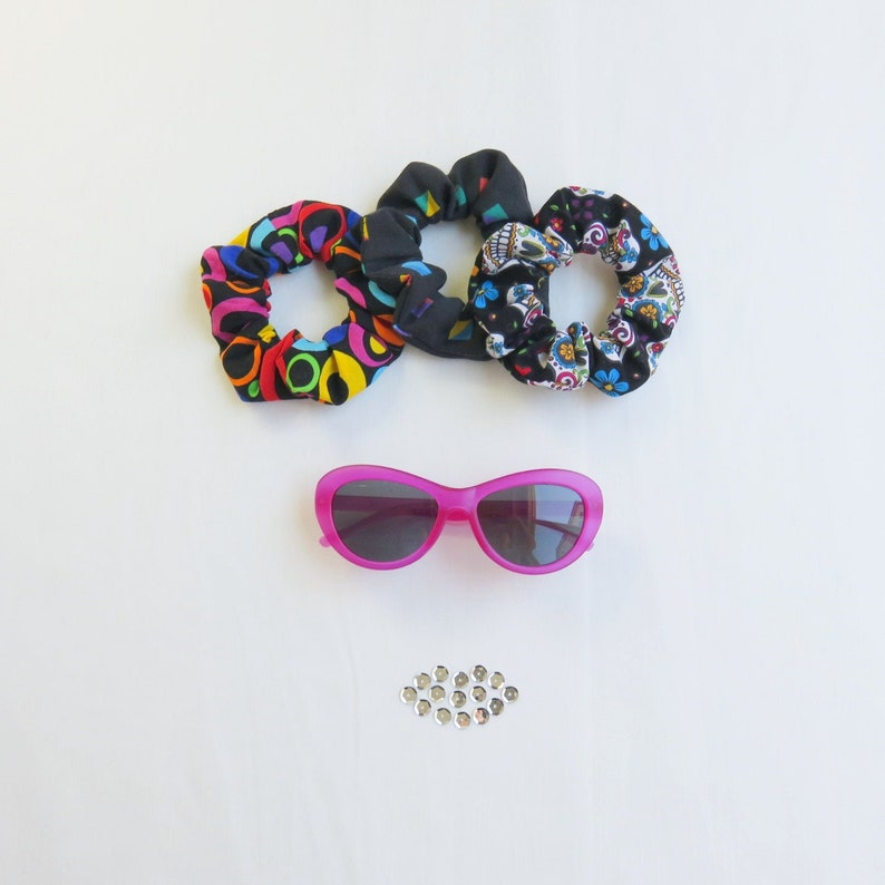 80s Scrunchies Set  3 Pieces  Recycled  Cotton  image 0